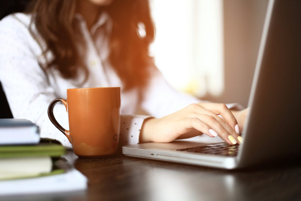woman working from home during covid-19